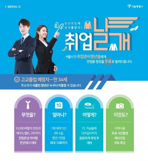 서울시의 청년취업서비스 '취업날개' 홍보이미�